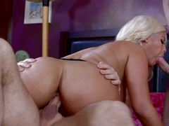 Bridgette B Getting Drilled By Two Thick Dicks